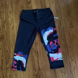 NWT Navy Blue Lucy Capri Legg Workout Pants